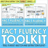 Addition and Subtraction Math Facts Fluency | BUNDLE for 1st and 2nd Grade
