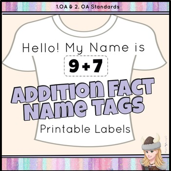 picture relating to Clothing Tags Printable named Addition Subtraction Truth Standing TAGS Printable Labels Reasoning Things to do!