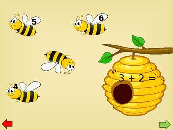 Addition/Subtraction Fact Practice - Bee theme