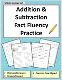 Addition & Subtraction Fact Fluency Practice & Activites