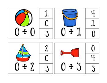 Addition & Subtraction Facts 0-10 Clip Cards Bundle