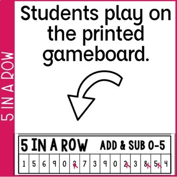 Addition & Subtraction Fact Fluency 5 in a Row: 9 Games  #SPRINGSAVINGS