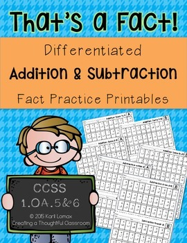 Addition & Subtraction Facts within 20, 1.OA.C.5 & 6