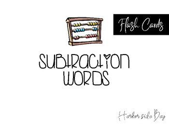 Addition & Subtraction Fashcards
