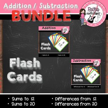 Addition & Subtraction Flash Card BUNDLE Pack