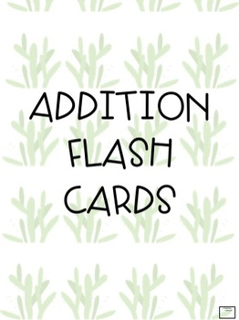 Addition & Subtraction Flash Card Bundle
