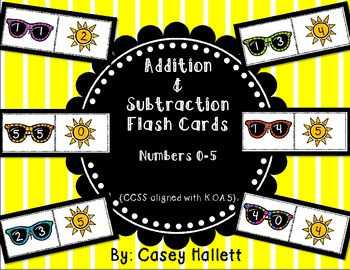 Addition & Subtraction Flash Cards {Common Core Aligned}