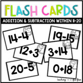 Addition & Subtraction Flashcards within 11-20 -- Animal Theme