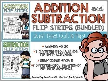 Addition & Subtraction Flip Strips (Bundled)