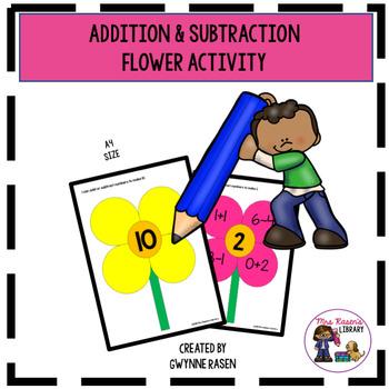 Addition & Subtraction Flower Activity