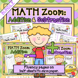 Fact Fluency Addition & Subtraction BUNDLE