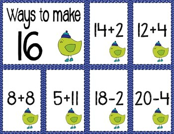 Math Fact Fluency for Addition & Subtraction BUNDLE (11 to 20)