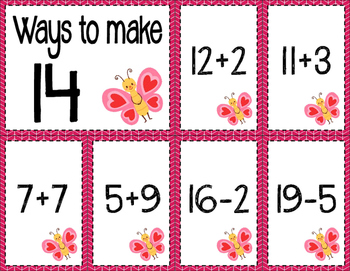 Math Fact Fluency for February (11 to 20)