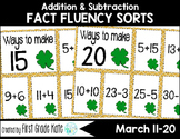 Math Fact Fluency for March (11 to 20)