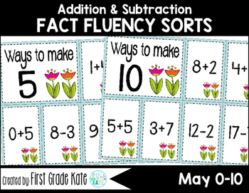 Math Fact Fluency for May (0 to 10)