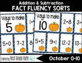 Math Fact Fluency for October (0 to 10)