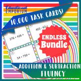 Addition & Subtraction Fluency Task Cards ENDLESS Bundle