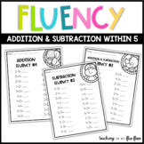 Addition & Subtraction Fluency within 5 -- Animal Theme