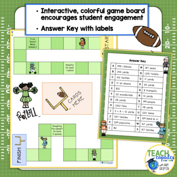 Addition & Subtraction Word Problems Football Themed Game 3.4A