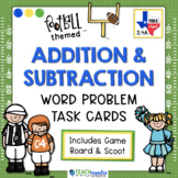 Addition Subtraction Football Themed Task Cards 3.4A