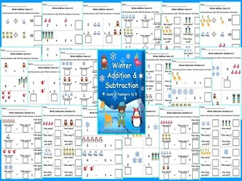 Addition & Subtraction Within 5 Four Seasons Bundle