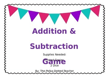 Addition & Subtraction Game
