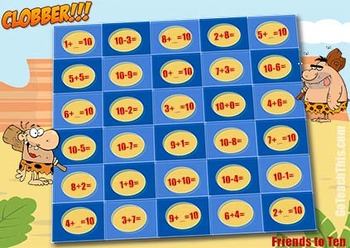 Addition Games & Subtraction Games in One - Clobber is Perfect for Math Centers