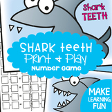 Subtraction & Addition Game - Shark's Teeth