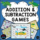 Distance Learning Addition and Subtraction Games Within 10