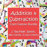 Addition & Subtraction Go Fish Games Bundle