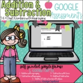 Addition & Subtraction Google Forms Pack l Google Classroo