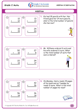 Addition & Subtraction Grade 2 Maths Workbook from www.Grade1to6.com Books