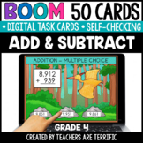 Addition & Subtraction Grade 4 Boom Cards | Distance Learning
