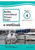 Grade 4 Addition & Subtraction Workbook of 63 pages from BeeOne Books
