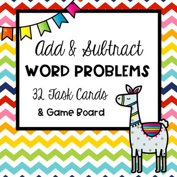 Addition & Subtraction Grade 4 Word Problems Task Cards
