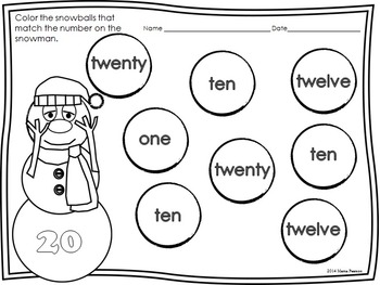 Addition, Subtraction,Greater Than/Less Than, and Number Words