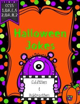 Addition & Subtraction {Halloween Themed Jokes}