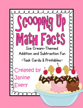 Addition & Subtraction Task Cards and Printables