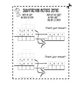 Addition and Subtraction Interactive Notebook 4.NBT.B.4 and 3.NBT.A.2