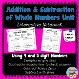 Addition and Subtraction Interactive Notebook 4.NBT.B.4 an