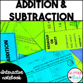 Addition & Subtraction Math Interactive Notebook