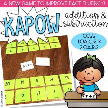 Addition & Subtraction Kapow - Math Game / Center Common Core
