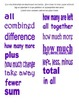 Addition/Subtraction Key Words Scramble