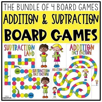 Addition & Subtraction Board Games Bundle