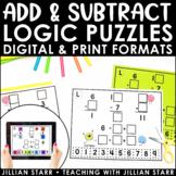 Addition & Subtraction Logic Puzzles   Digital & Printable