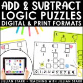 Distance Learning Addition & Subtraction Logic Puzzles | D