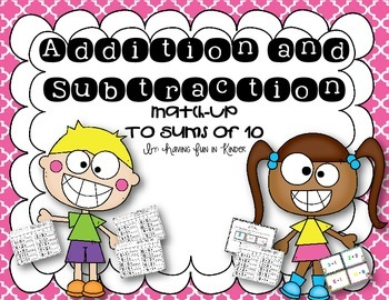 Addition Subtraction Match-Up