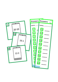 Addition Subtraction to 20 Autism Special Education BUNDLE
