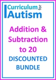 Addition Subtraction to 20 Autism BUNDLE