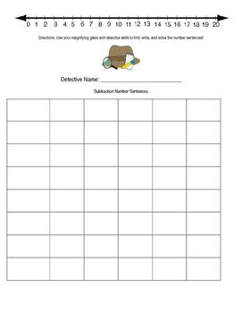 Addition/Subtraction Math Detectives